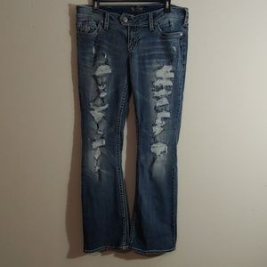 Silver Jeans Tuesday Distressed Boot Cut 32x33